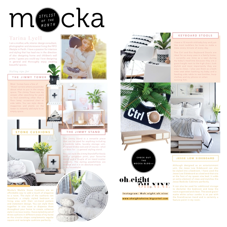 Mocka Stylist of the Month - Tarina Lyell